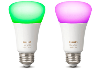 PHILIPS Hue LED White & Color Ambiance E27, Doppelpack