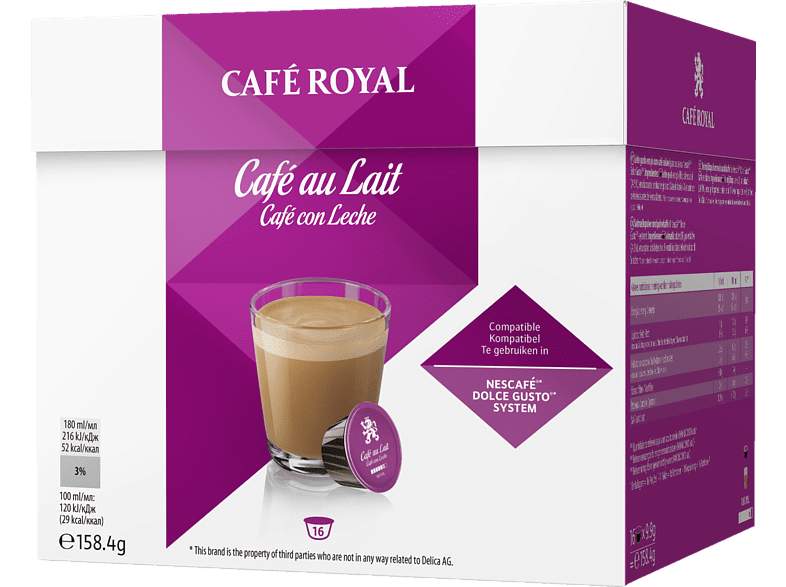 CAFE ROYAL Cafe au Lait Kaffeekapseln (Kapselmaschine)