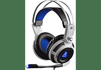 Auriculares gaming - G-Lab KORP200, Micrófono incorporado, Blanco