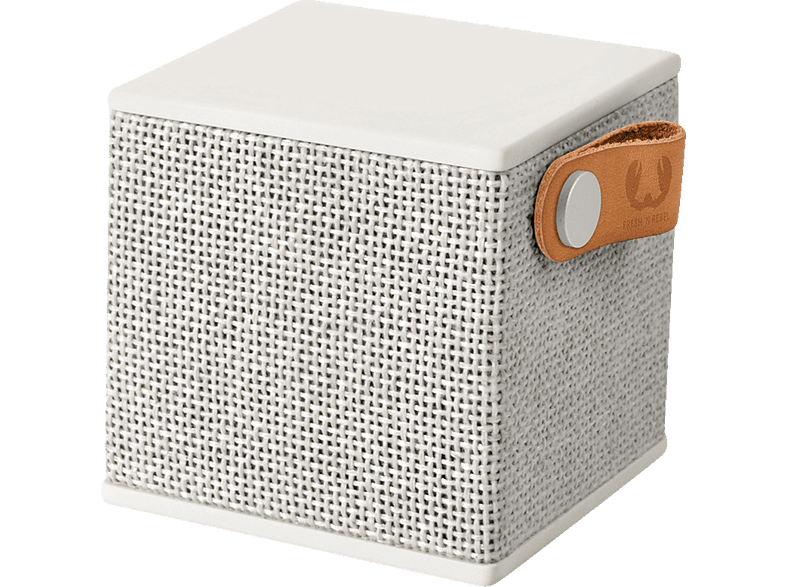 FRESH N REBEL Rockbox Cube Fabriq Edition Bluetooth Lautsprecher, Hellgrau