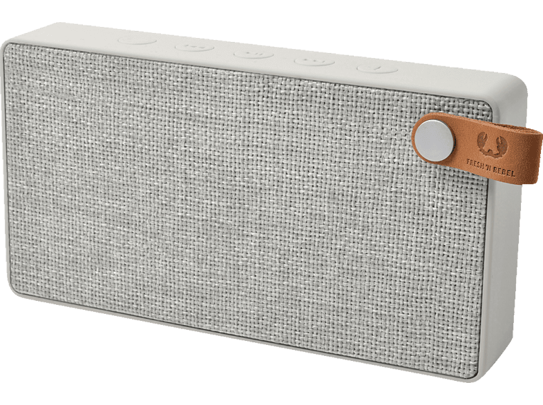 FRESH N REBEL Rockbox Slice Fabriq Edition Bluetooth Lautsprecher, Hellgrau