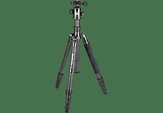MANFROTTO MKELEB5CF-BH Element Carbon Dreibein Stativ, Schwarz, Höhe offen bis 1640 mm