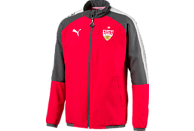 PUMA VfB Stuttgart Präsentationsjacke, Rot/Schwarz