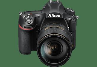 NIKON D850 Kit Spiegelreflexkamera, 45.7 Megapixel, 4K, 24-120 mm Objektiv (AF-S, ED, VC), Touchscreen Display, WLAN, Schwarz
