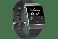 FITBIT Ionic Fitness-Smartwatch Aluminium Elastomer, S/L, Charcoal/Smoke Gray