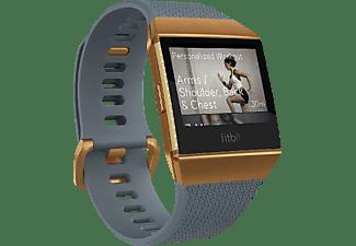 FITBIT Ionic Fitness-Smartwatch Aluminium Elastomer, S/L, Slate Blue/Burnt Orange