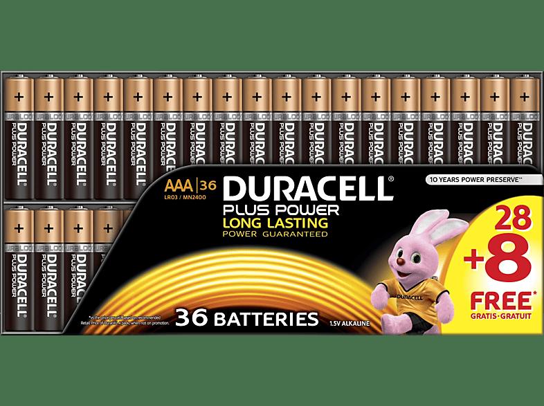 DURACELL Plus Power AAA (Micro) Batterien Alkaline 36 Stück