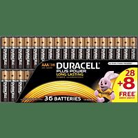 DURACELL Plus Power AAA (Micro) Batterien, Alkaline, 1.5 Volt 36 Stück
