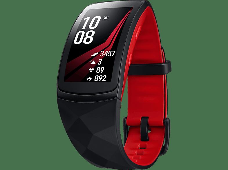 SAMSUNG  Gear Fit 2 Pro Fitness Armband, Silikon, L, Rot
