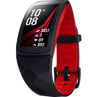 SAMSUNG Gear Fit 2 Pro Fitness Armband Silikon, L, Rot