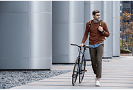 FITBIT  Ionic Fitness-Smartwatch Aluminium, Elastomer, S/L, Blue-Gray/White