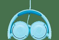 JBL JR300, On-ear Kopfhörer  Blau