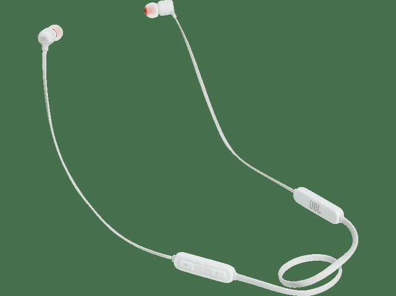 JBL T110BT, In-ear Kopfhörer Bluetooth Weiß
