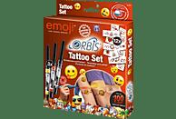 ORBIS Tattoo Set Emoji Tattoo Set, Gelb/Rot/Schwarz