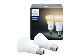 PHILIPS (LIGHT) HUE WHITE AMBIANCE A60 E27 RETAIL 2PACK