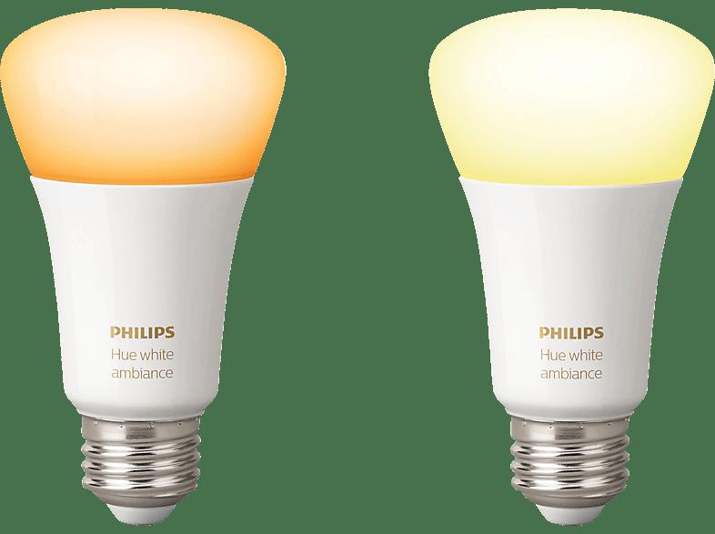 PHILIPS Hue White Ambiance LED Leuchtmittel, Weiß