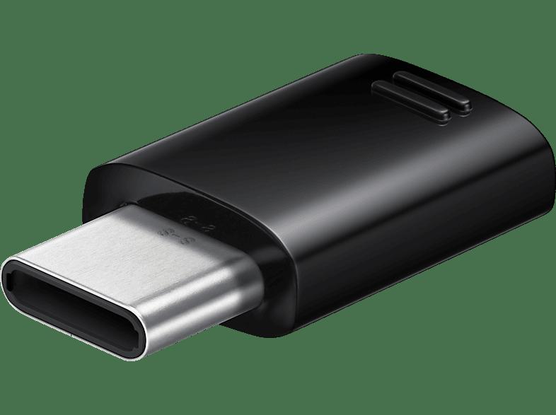 SAMSUNG USB Typ-C auf Micro-USB , Adapter, Schwarz