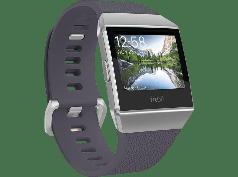 FITBIT Ionic Fitness Smartwatch Aluminium, Elastomer, SL, Blue GrayWhite