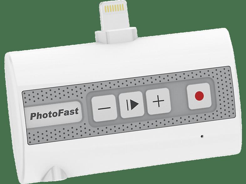 PHOTOFAST Call Recorder 3-in-1 Recorder für Mobil- und Internettelefonie für iOS  Weiß/Grau