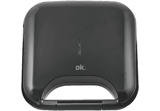Sandwichera - OK OSM 1111, Potencia 750W, Capacidad 2 Sandwiches, Negro