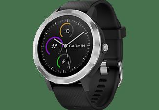 GARMIN vívoactive 3 Smartwatch Silikon, 127-204 mm, Schwarz/Silber