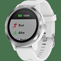 GARMIN  vívoactive 3 Smartwatch, Silikon, 127-204 mm, Weiß/Silber
