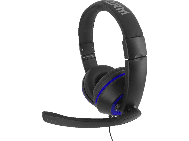 NORDIC GAME SUPPLY SU-SA5302 X-Storm Tactical Game & Chat Headset, Schwarz/Blau
