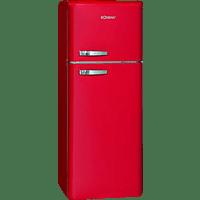 BOMANN DTR353  Kühlgefrierkombination (A++, 172 kWh/Jahr, 1440 mm hoch, Rot)