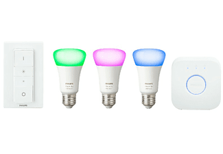 PHILIPS HUE Ampoule LED Hue White & Color ambiance Kit de démarrage E27