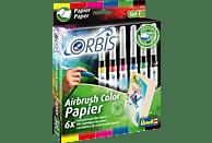 ORBIS Airbrush Color Papier Farbpatronen, Gelb/Rot/Pink/Blau/Grün/Schwarz