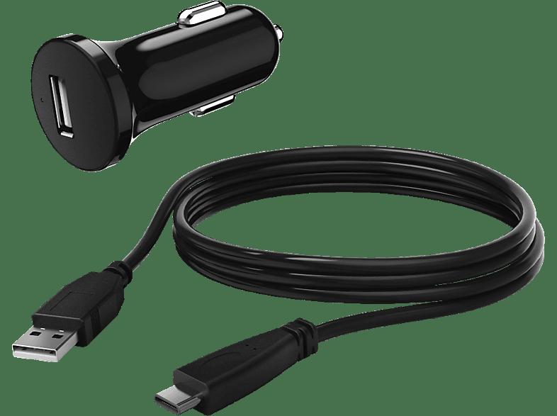 HAMA 12 - 24 Volt KFZ-Ladegerät mit USB-C-Kabel, Schwarz