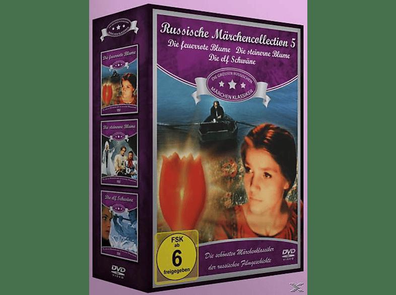 Russische Märchen Collection 5: Die feuerrote Blume / Die steinerne Blume / Die elf Schwäne [DVD]