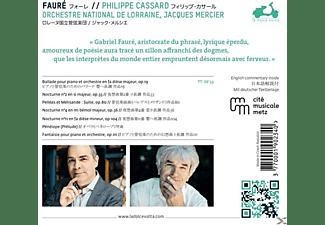 Cassard Philippe, Orchestre National De Lorraine - Ballade / 3 Nocturnes / Penelope / Pelléas et Mélisande / Pénélope / Fantaisie  - (CD)