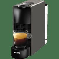 KRUPS XN110B Nespresso Essenza Mini Kapselmaschine, Grau