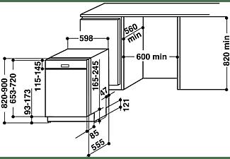 BAUKNECHT BBC 3B+26 X Geschirrspüler (teilintegrierbar, 600 mm breit, 46 dB (A), E)