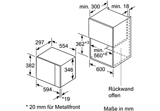 SIEMENS BF525LMS0 Mikrowelle (800 Watt)