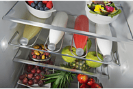 KITCHENAID KCFMA 60150L Ikonischer Design  Kühlschrank (A++, 1500 mm hoch, Cream glossy)