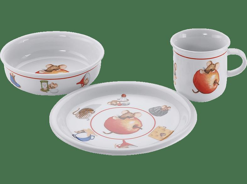 ARZBERG 48700-606089-2844 Daily Küchenmaus 3-tlg. Kindergeschirr-Set