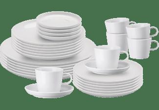 ARZBERG 42100-590003-2845 Cucina-Basic ROK 30-tlg. Geschirr-Set Weiß