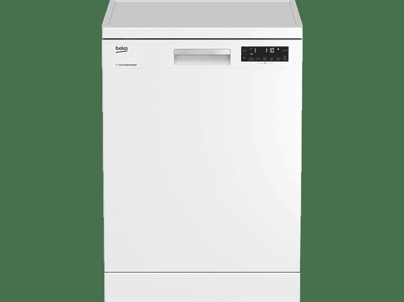 BEKO DFN 26420 W  Geschirrspüler (Freistehend mit Unterbaumöglichkeit, 598 mm breit, 46 dB (A), A++)