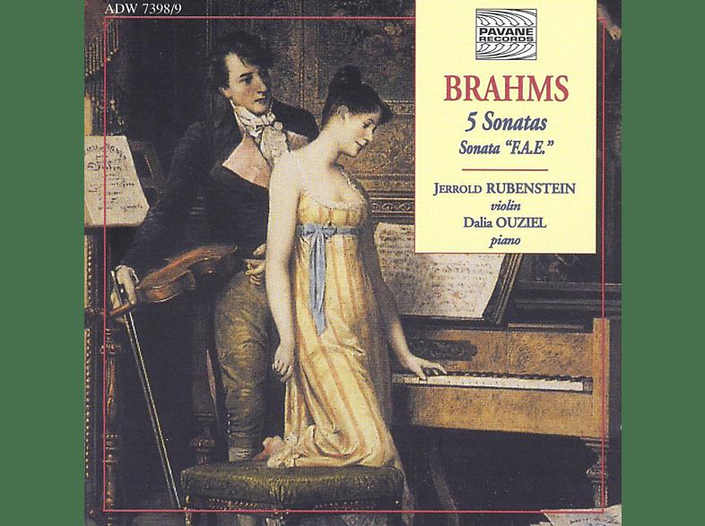 Jerrold Rubenstein, Dalia Ouziel - Brahms:5 Sonaten Für Violie+Klavier [CD]