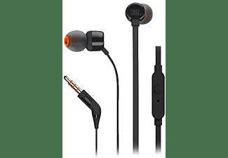 Auriculares inalámbricos - JBL T110BT, Pure Bass, Bluetooth, 96 dB, Negro
