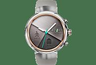 ASUS ZenWatch 3 (WI503Q) Smartwatch Edelstahl Silikon, 118 mm, Silber mit Sportarmband Beige
