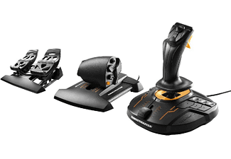 Pack gaming - Thrustmaster 2960782 T.16000M FCS Flight Pack, Joystick, Mando de potencia, Pedales