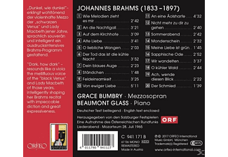Grace Bumbry, Beaumont Glass - Bumbry/Glass: Brahms-Lieder  - (CD)