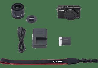 CANON EOS M100 Kit Systemkamera mit Objektiv 15-45 mm f/6.3, 7,5 cm Display Touchscreen, WLAN