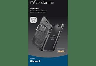 CELLULAR LINE Supreme, Bookcover, Apple, iPhone 7, iPhone 8, Schwarz