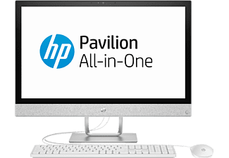 HP Pavilion All-in-One – 24-r002ng, 23.8 Zoll, All-in-One-PC, 1 TB Speicher, 8 GB RAM, Core™ i3 Prozessor, Intel® HD-Grafik 630, Weiß