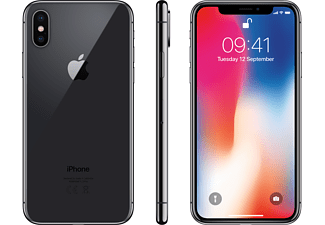 APPLE iPhone X 64 GB Space Grau