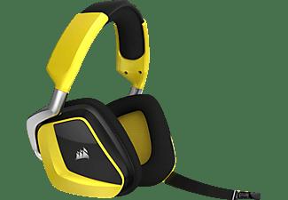 CORSAIR Void Pro RGB SE Premium Gaming Headset mit Dolby® Headphone 7.1, Over-ear Gaming Headset Gelb/Schwarz